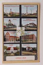 26864 Wappen AK Lübtheen Bergwerk Jessnitz Bahnhofstr. Schule Post Schacht 1912