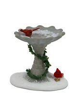 BYERS CHOICE Winter Bird Bath w/Cardinals Accessory Brand New in 7 Christmas MIB