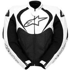 Alpinestars mandíbulas Negro/Blanco De Cuero Chaqueta de moto 58 ** ahora sólo £ 265.00 ***