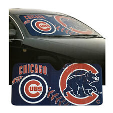 """New MLB Chicago Cubs Car Truck Windshield Folding SunShade Large Size 27.5""""x58"""""""