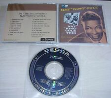 NAT KING COLE In The Beginning CD 1989 Decca/Warner Japan 16trk 25P2-2836