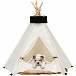 Pet Cat Dog Teepee Portable Dog Tents Fold Pet Tent Small Animals Bed
