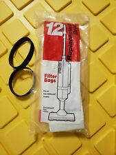Oreck OEM 12 Replacement Vacuum Filter Bags ElectrikBroom APU255 & 2 OEM belts