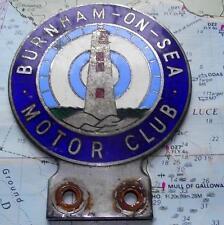 Old Art Deco Lighthouse Car Mascot Badge for Burnham on Sea Motor Club C