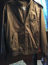 Vtg 80s Members Only dark brown racer bomber windbreaker jacket sz 40