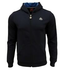 Kappa Mens Authentic Hoodie Zip Hooded Sweater Retro Jumper Hoody Top M Navy
