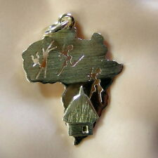14 ct GOLD  second hand map of Africa pendant