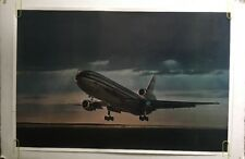 DC-10 Vintage Airplane Poster McDonnell Douglas American Airlines Take Off 1970s