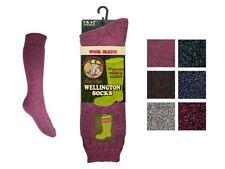 1 Pair Ladies Wool Blend Cushioned Thermal Winter Wellington Boot Socks