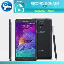 Samsung Galaxy Note 4 32GB N910F Nero Grado AB Ottime Condizioni Garanzia Italia
