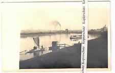 Foto Ak Heidenau Papierfabrik Elbe Frachter Boote 1930er !