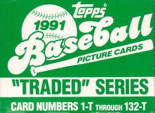 Cromos de béisbol de coleccionismo originales Temporada 1991