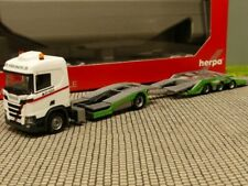 1/87 Herpa Scania CR 20 Niederdach LKW-Transporter-Hängerzug Hödlmayr 310178