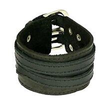 Wide Cuff Leather Bracelets Wristband Wrap Bangle for Men Women Buckle Fastening