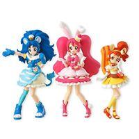 New Bandai Kira Kira Precure A La Mode Cutie Figure 3 set 10cm Pretty Cure!