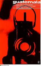 Political Cuban POSTER.GUATEMALA Armed Struggle.GUN.am8.World Revolution Art