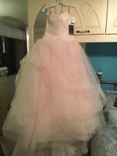 Unworn BNWT White by Vera Wang Ivory/Pearl Ombre Tulle Wedding Dress UK Size 12