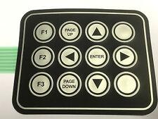 3x4 Tastenfeld, Folientastatur, 12 Tasten, mit Stecker +Beschriftung, 10 Stück