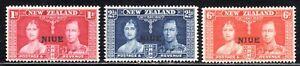 1937 Niue SC# 70 72 - Coronation Issue - M-H