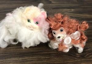 HASBRO SWEETIE PUPS KITTIES  SPRINGIER SPANIEL White Cream Pink Cat lot set 2