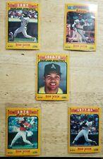 1988 Score SALUTE TO REGGIE JACKSON - 5 Card Set  A's Orioles Yankees Angels HOF