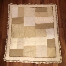 CoCaLo Baby Nursery Crib Bedding Snickerdoodle Comforter Quilted Tan Pattern Po