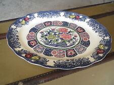 Antiguo gran plato de cerámica decoración de flores french antiguo plato