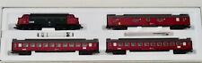Märklin 28524 Schnellzug der DSB, Diesellok, 2 Wagen, 1 Postwagen, unbespielt