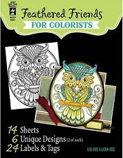 Feathered Friend Colorists Card Making Paper Crafting Hot Off The Press 8506 New