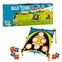 Kids Sports Carnival Games Bean Bag Toss Game Corn Hole Camp Outdoor Set