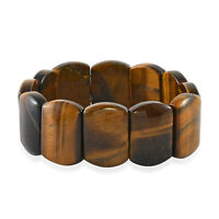 Yellow Tiger Eye Beads Stretchable Bracelet Fashion Jewelry Gifts for Women