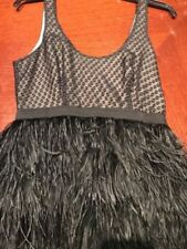 COOPERATIVE WOMENS FABULOUS BLACK PARTY DRESS GREAT FEATHER BOTTOM!