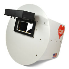 Wendys Pancake Welding Hood Helmet With Strap Right Handed White Flip Up Lens