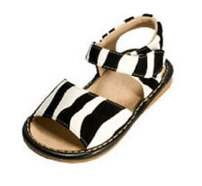 SALE Size 5 Zebra print Squeaker Squeaky Sandals Leather New In Box