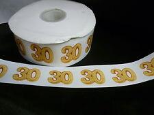 Cinta De Cumpleaños Pastel Decoración Pastel Artesanía - 50mm - 30 años treinta - 1m