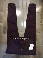 Earnest Sewn Purple Skinny Jeans Audrey Legging Fit 30 Anthropologie-$228 New
