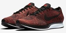 Men's Nike Flyknit Racer Running Shoes University Red / Black Sz 13 526628 608