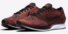 Men's Nike Flyknit Racer Running Shoes University Red / Black Sz 7 526628 608
