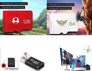 Carte Memoire Micro SD + Adaptateur+Lecteur Carte Pour Nintendo Switch