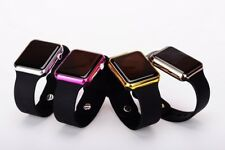MEN WOMEN SQUARE MIRROR FACE SILICONE BAND  DIGITAL WATCH  RED  LED WRIST WATCH