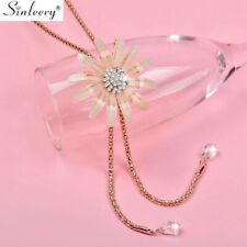 Tassel Necklace Women Wedding Jewelry Romantic Big Acrylic Flower Long Pendant