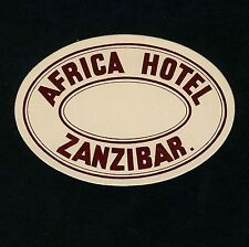 Africa hôtel zanzibar tanzanie tanzanie * Old Luggage label valise Autocollant