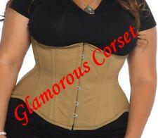 "Cotton Underbust Corset Plus Size Steel Boned Waist Training Size 30-40"""