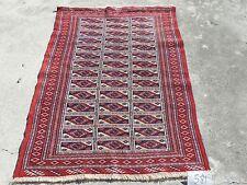3x4ft. Handmade Turkoman Bokharra Wool Rug