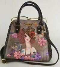 """Nicole Lee USA Special Print Edition """"Sunny"""" Street Shopper Handbag Purse Rare"""