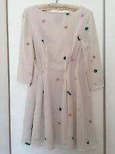 Nishe Cream Embroidered Dress AU Size 6-8
