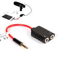 Aputure 3.5mm Male to 2 Female Earphone Microphone Mic Y Splitter Audio Adapter