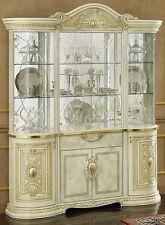 Barocco Lucido BUFFET ARMADIO glaskabinet art. CONSOLLE ITALIANO Crema-beige