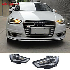 2Pcs For Audi A3 Headlights assembly 2015 2016 Projector 【Halogen Upgrade】