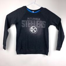 Pittsburgh Steelers NFL Victorias Secret Pink Womens Sweatshirt Gray Heathered S